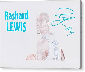 Rashard Lewis Canvas Print by Toni Jaso