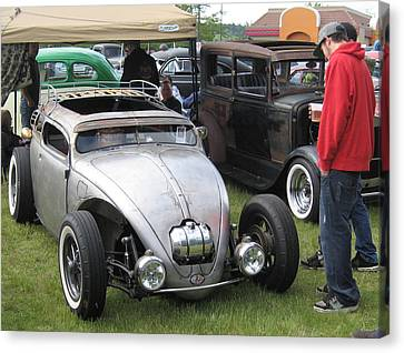 Canvas Print featuring the photograph Rat Rod Many Parts by Kym Backland
