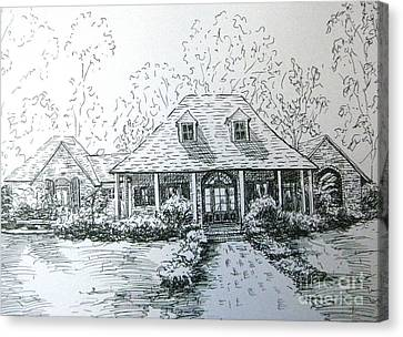 Canvas Print featuring the drawing Rathe's Home by Gretchen Allen
