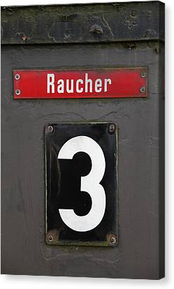 Bahn Canvas Print - Raucher by Falko Follert