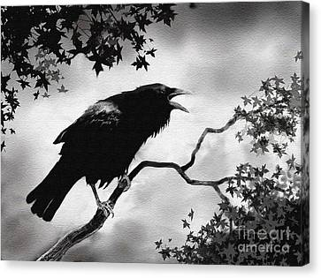 Raven's Song Canvas Print by Robert Foster
