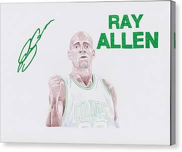Ray Allen Canvas Print by Toni Jaso