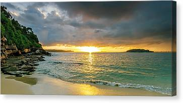 Rays Of Congwong Bay Canvas Print by Mark Lucey
