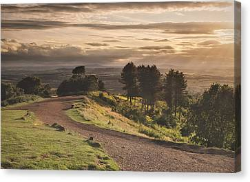Rays Of Sunlight Over Clent Countryside Canvas Print by Verity E. Milligan