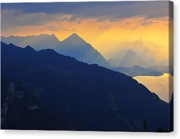 Wengen Canvas Print - Rays Of Triumph by Bernard Chen