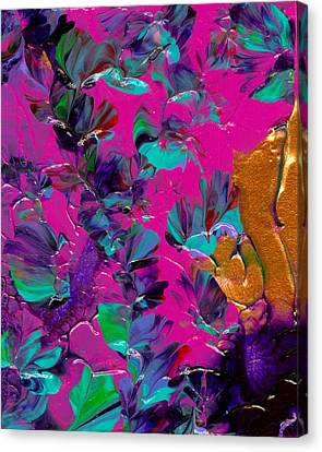 Razberry Ocean Of Butterflies Canvas Print by Nan Bilden