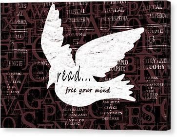 Read Free Your Mind Brick Canvas Print
