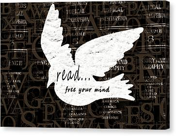 Read Free Your Mind Brown Canvas Print by Angelina Vick