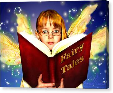 Read More Fairy Tales Canvas Print by Nada Meeks
