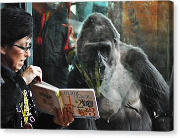 Reading Is Fundamental Canvas Print by Bill Cannon