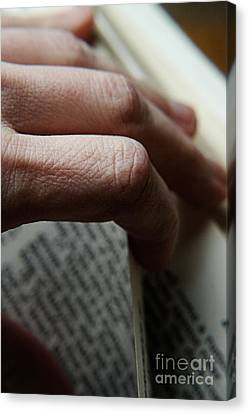 Reading The Bible Canvas Print by HD Connelly