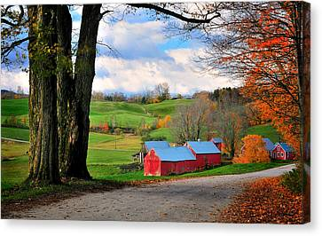 Reading Vermont - Jenne Road Canvas Print by Thomas Schoeller