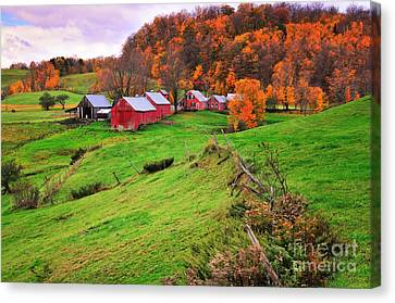 Reading Vermont Scenic Canvas Print by Thomas Schoeller