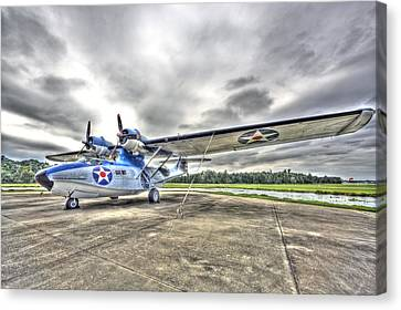 Ready And Able Pby Aircraft Canvas Print by Rich Franco