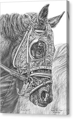 Ready Set Go - Race Horse Portrait Print Canvas Print