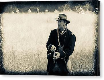 Ready The Revolver Canvas Print by Kim Henderson