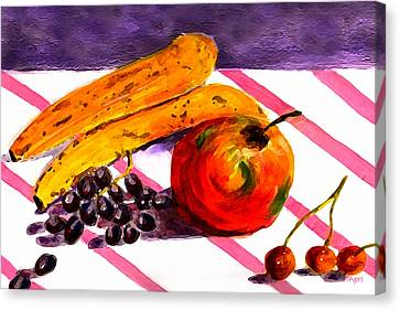 Canvas Print featuring the painting Ready-to-eat by Paula Ayers