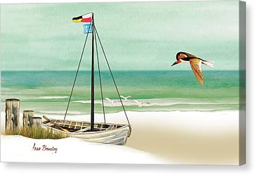Canvas Print featuring the painting Ready To Go by Anne Beverley-Stamps