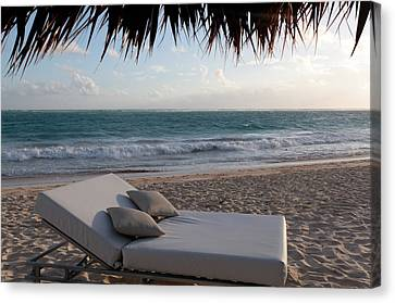 Canvas Print featuring the photograph Ready To Relax On A Tropical Beach by Karen Lee Ensley