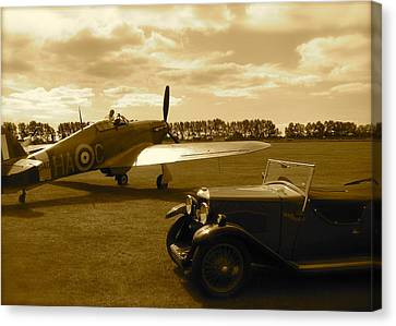 Canvas Print featuring the photograph Ready To Scramble - Spitfire by John Colley