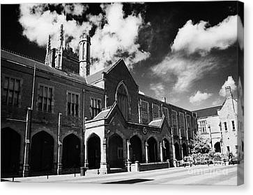 rear of Queens University of Belfast main Lanyon Building and quad Northern Ireland uk Canvas Print