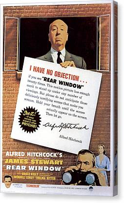 Films By Alfred Hitchcock Canvas Print - Rear Window, Alfred Hitchcock, James by Everett