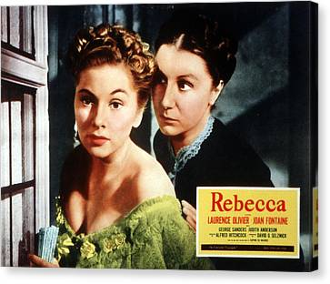 Rebecca, From Left Joan Fontaine Canvas Print by Everett