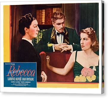 Films By Alfred Hitchcock Canvas Print - Rebecca, From Left Judith Anderson by Everett