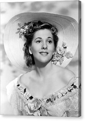 Rebecca, Joan Fontaine, 1940 Canvas Print by Everett