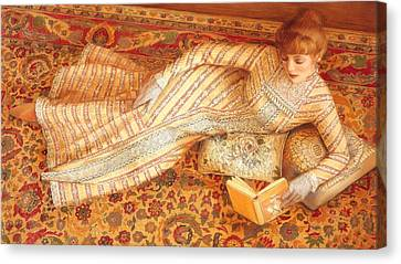 Reading Canvas Print - Rebecca Reading by Sue Halstenberg