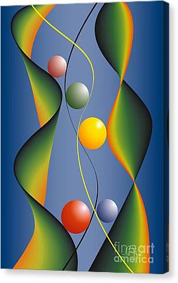 Canvas Print featuring the digital art Rebus by Leo Symon