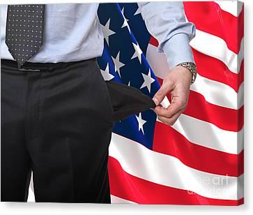 Recession In America Canvas Print