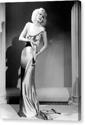 Reckless, Jean Harlow, In A  Dress Canvas Print by Everett