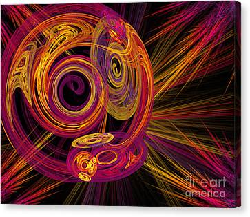 Record Time Machine Canvas Print by Andee Design