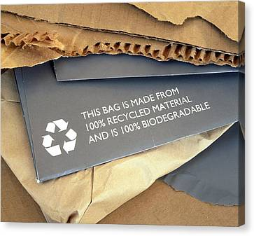 Recycled Materials Canvas Print by Martin Bond