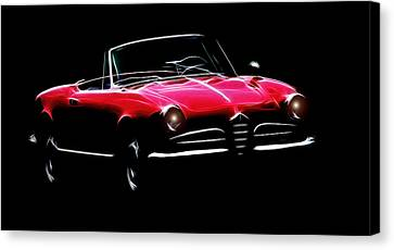 Red Alfa Romeo 1600 Giulia Spider Canvas Print by Steve K
