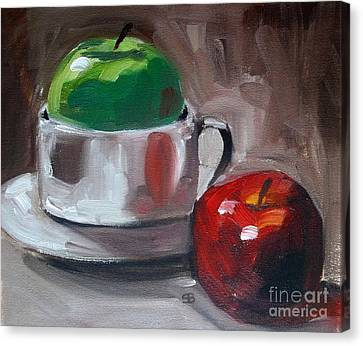 Red And Green Apples Canvas Print by Samantha Black