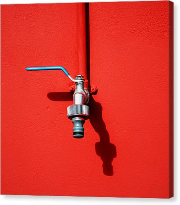 Red And Tap Canvas Print by Saulgranda