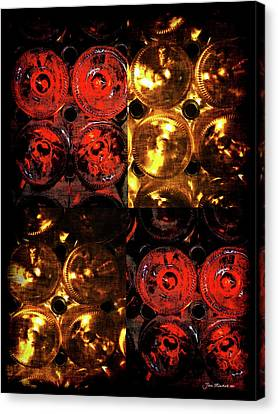 Red And White Wine Collage Canvas Print by Joan  Minchak