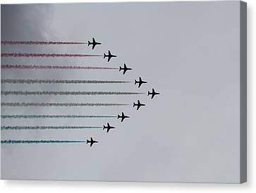 Red Arrows Horizontal Canvas Print by Jasna Buncic