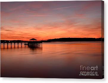 Canvas Print featuring the photograph Red Autumn Sky by Margaret Palmer