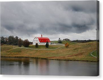 Red Barn Canvas Print by Maggy Marsh