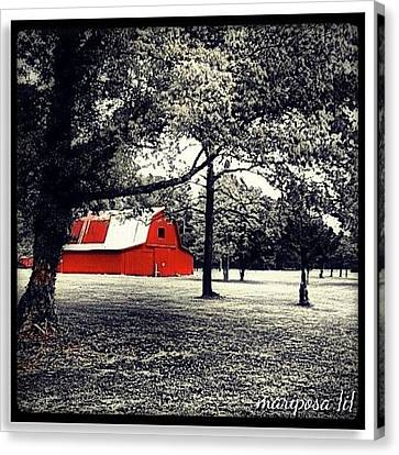 Edit Canvas Print - Red Barn by Mari Posa