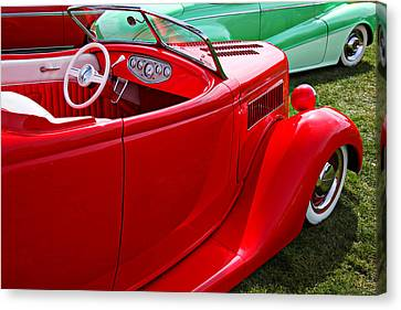 Jalopy Canvas Print - Red Beautiful Car by Garry Gay