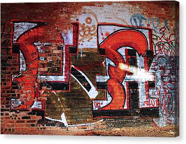 Scott Canvas Print - Red Brick And Paint by Scott Hovind
