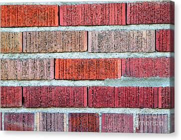 Red Brick Wall Canvas Print by Henrik Lehnerer