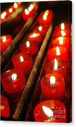 Merry -go- Round Canvas Print - Red Candles by Carlos Caetano