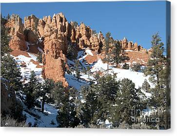 Canvas Print featuring the photograph Red Canyon by Bob and Nancy Kendrick