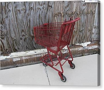 Red Cart 2 Canvas Print by Todd Sherlock