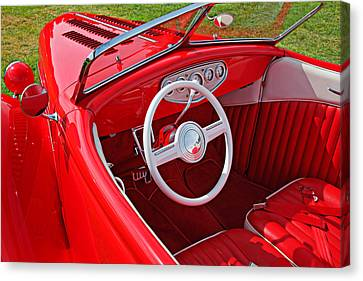 Jalopy Canvas Print - Red Classic Car by Garry Gay